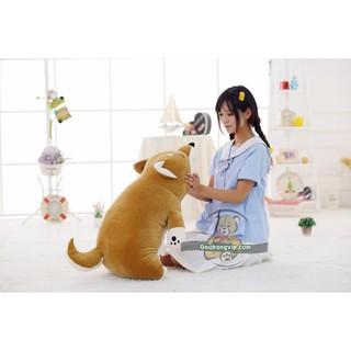 Gấu bông chó Shiba nằm mềm ôm, gối đều cực thích BKF25