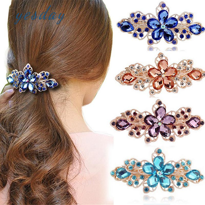Kẹp tóc đính hoa pha lê thời trang thanh lịch dành cho nữ - 14230209 , 2472704398 , 322_2472704398 , 47100 , Kep-toc-dinh-hoa-pha-le-thoi-trang-thanh-lich-danh-cho-nu-322_2472704398 , shopee.vn , Kẹp tóc đính hoa pha lê thời trang thanh lịch dành cho nữ