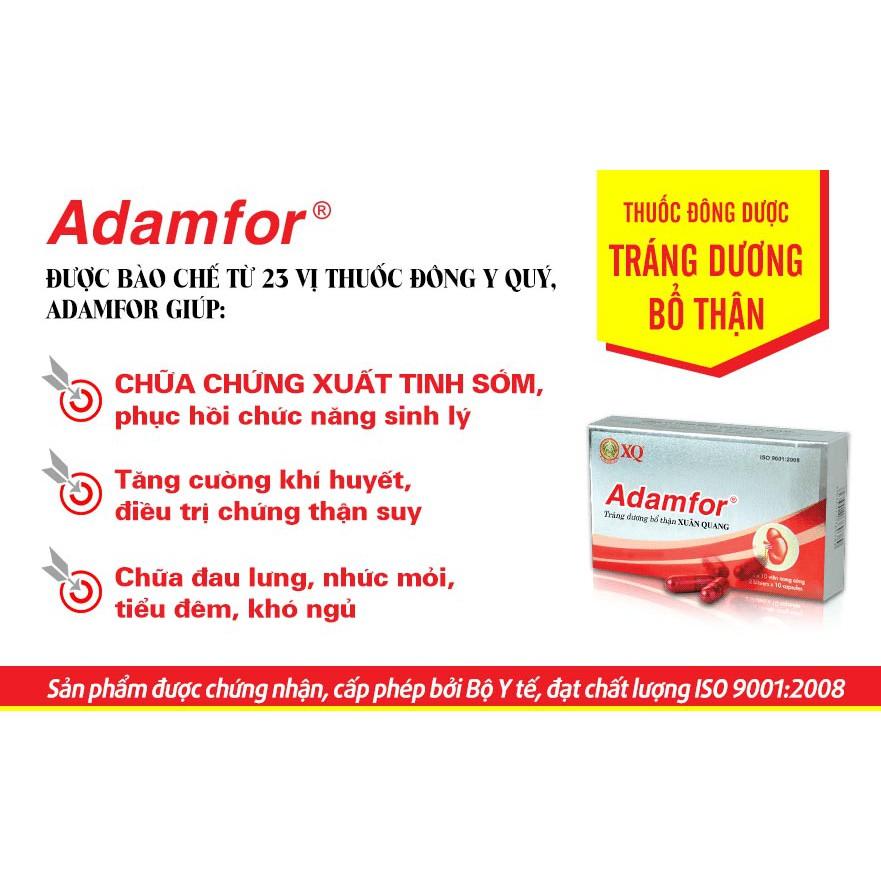 Combo 10 hộp Adamfor - Chữa chứng xuất tinh sớm, phục hồi chức năng sinh lý