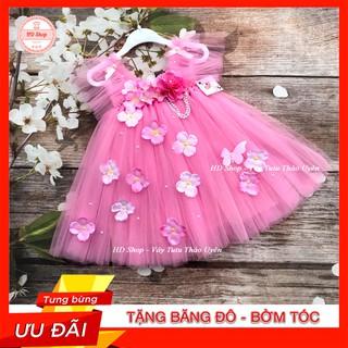 Đầm bé gái ❤️FREESHIP❤️ Đầm công chúa Cánh tiên hồng phấn hoa hồng tú cầu cho bé gái