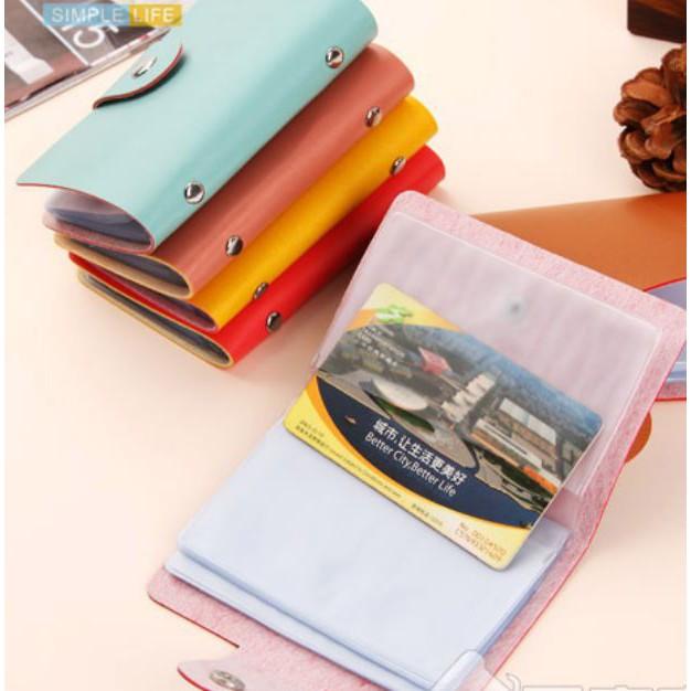 Túi đựng thẻ các loại có khóa bấm (đựng 24 thẻ)