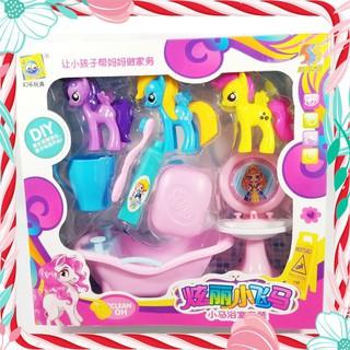[Freeship] ĐỒ CHƠI TRẺ EM – Bộ Đồ Chơi Bồn Tắm Ngựa Pony [Loại Đẹp]