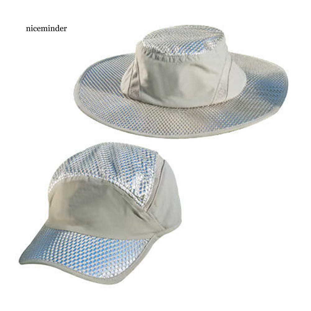 NCM_Summer Outdoor Sport Climbing Fishing Breathable Mesh Fisherman Cap Sun Hat