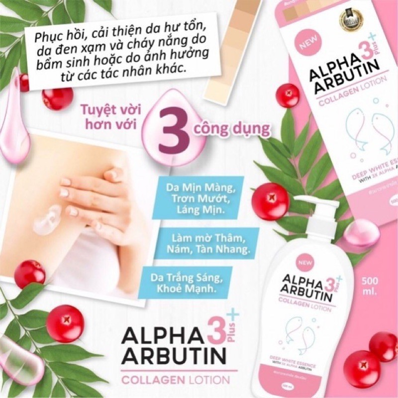 Lotion Alpha Ảbutin 3 Plus+