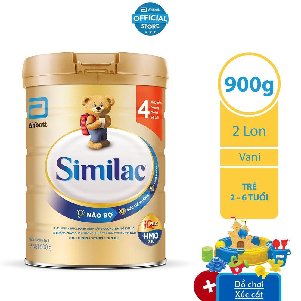 Bộ 02 Lon Sữa bột Similac 4 900g/lon
