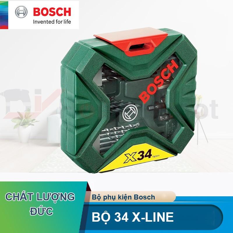 Bộ mũi khoan tổng hợp 34 chi tiết Bosch 2607010608