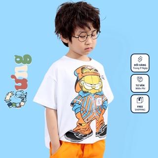Áo thun trẻ em CƯNG, áo phông cotton cộc tay MÈO NGẦU bé trai bé gái 12kg tới 35kg thumbnail
