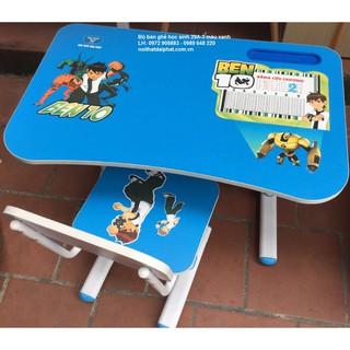 Bộ bàn học sinh hòa phát BHS29A-3 màu xanh