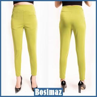 Quần Legging Nữ Bosimaz MS115 dài túi trước màu xanh bơ cao cấp, thun co giãn 4 chiều, vải đẹp dày, thoáng mát. thumbnail