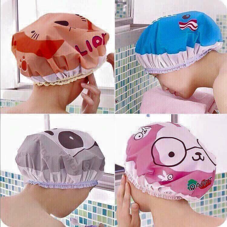 Mũ chụp tóc khi tắm