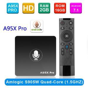 Google TiVi Box A95X Pro Smart TV Box Quad Core Amlogic S905W Android 7.1 TiVi Box Voice Control WiFi Bluetooth LAN HDMI Media Player 2G 16G