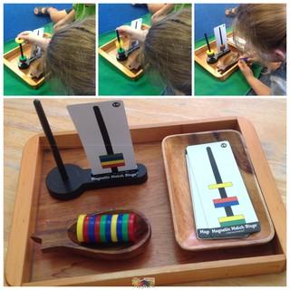 Vòng từ Magnetic Match Ring – Đồ chơi vật lý, thí nghiệm, cảm quan, tư duy, suy luận