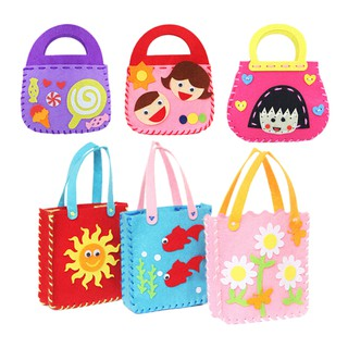 [BUDD&vn] 1 Pcs Non-woven Cloth Bag Cartoon Handmade DIY Applique Bag Crafts Kids Toys