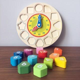 Đồ chơi gỗ – đồng hồ hình khối