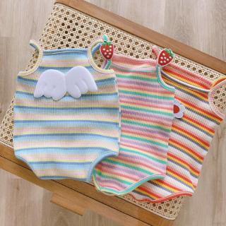 Áo liền quần kẻ sọc dễ thương cho bé sơ sinh