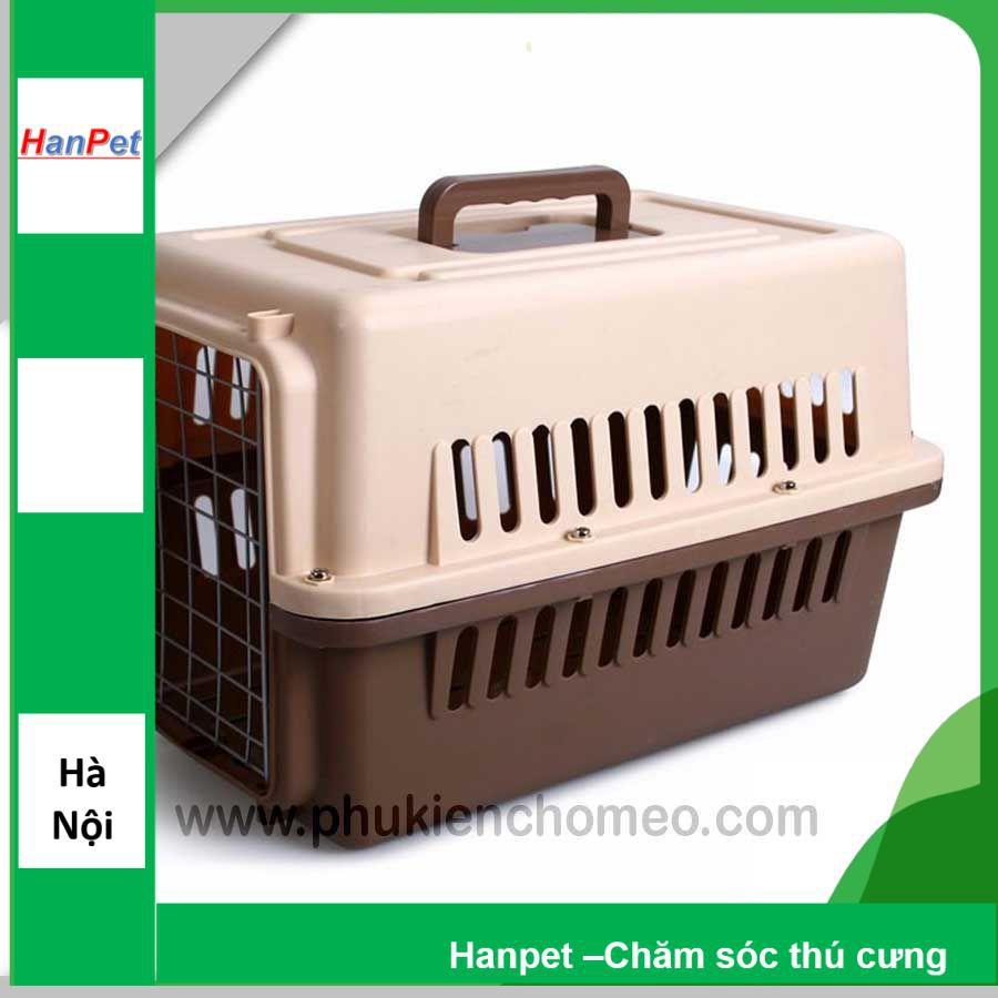Size 1- Lồng hàng không (hanpet 4711769) lồng vận chuyển chó mèo Size 1
