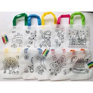 Túi xách tô màu vẽ bằng vải dệt cho bé đồ chơi Simbaba cho trẻ em 3-5 tuổi tập tô màu sáng tạo 7