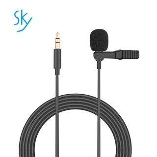 Portable 3.5mm Mini Mic Microphone Hands Free Clip on Microphone Mini Audio Mic for PC Laptop Lound Speaker for OSMO