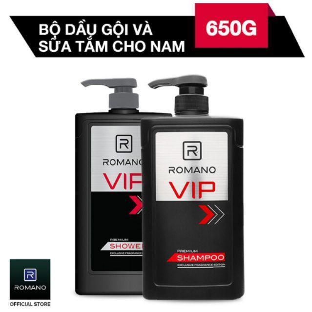 Dầu Gội và sữa tắm Romano VIP (650g)