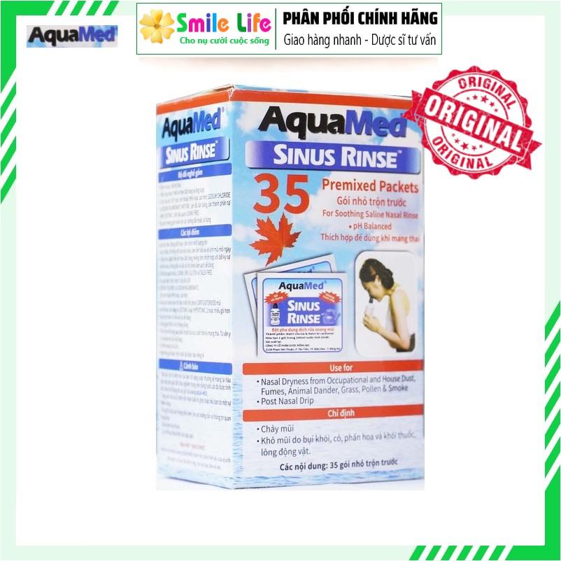 Muối rửa mũi xoang Aquamed (Hộp 35 gói)
