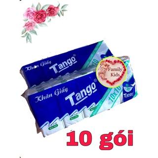 Lốc 10 gói khăn giấy bỏ túi Tango hương Bạc Hà