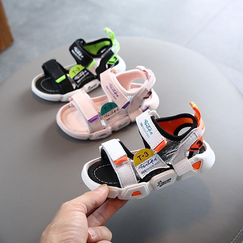 Dép sandal siêu nhẹ cho bé ❤️FREESHIP❤️ Sandal quai dán siêu nhẹ cho bé trai bé gái thoáng chân mẫu T3 mới nhất
