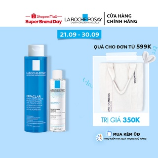 Bộ sản phẩm nước cân bằng giàu khoáng 200ml và nước tẩy trang La Roche-Posay Effaclar Toner 50ml