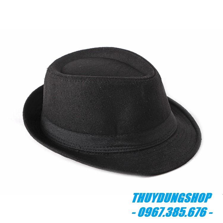 Mũ phớt nam trung niên vải dạ MNA07