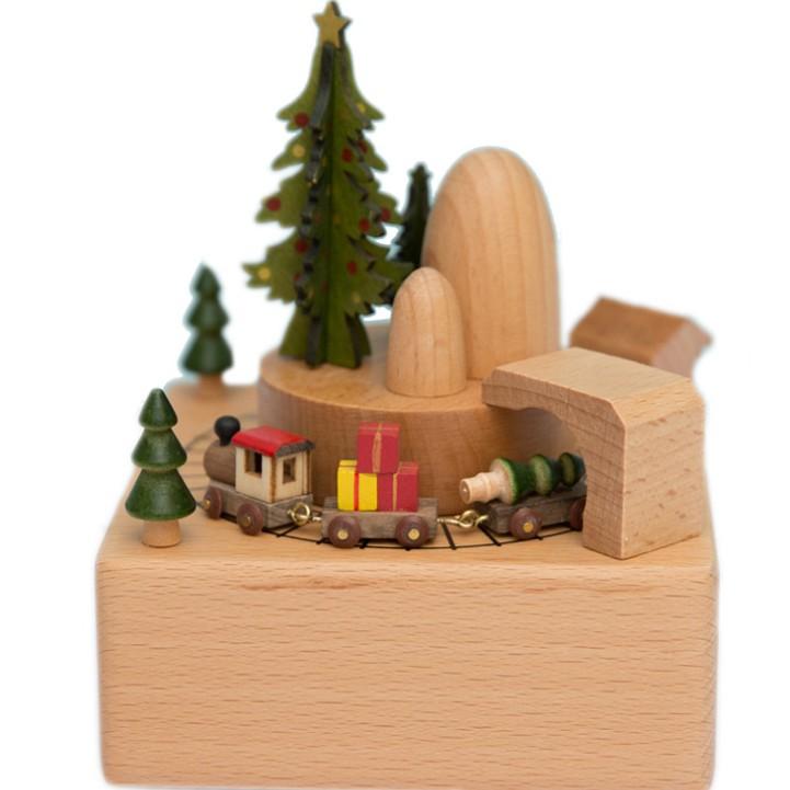 Hộp nhạc thủ công bằng gỗ cực đẹp