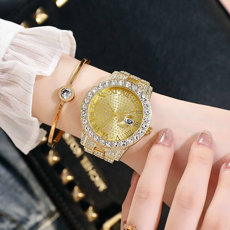 Đồng hồ thời trang nam nữ DGZ D8 mặt tròn số la mã dây kim loại