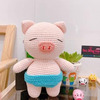 Heo bằng len handmade – Gấu bông handmade an toàn cho bé