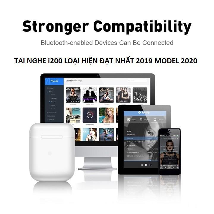 Tai Nghe Bluetooth, Tai Nghe Không Dây i200 Tai Nghe Airpod Bluetooth 2020