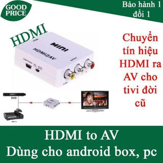 Box convert hdmi to av cho android box, tivi box - hdmi ra av