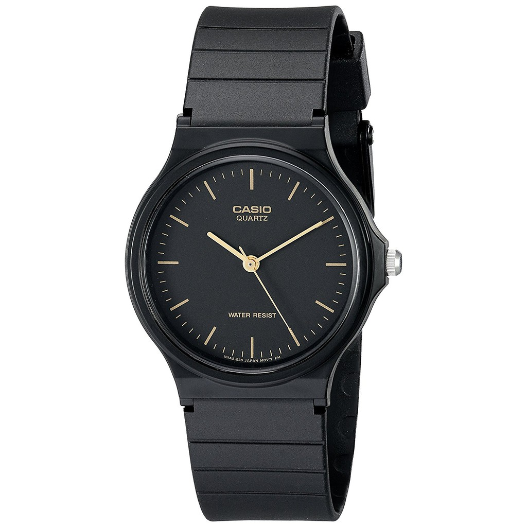 Đồng hồ Unisex casio Mặt Kim dây Silicone Màu đen xách tay Nhật Bản