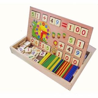 Bảng học toán bằng gỗ 2 mặt