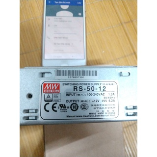 Nguồn Mean well RS-50-12, 12vdc, 4.2a