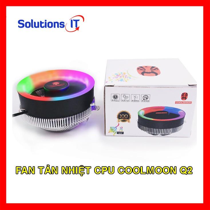 Fan tản nhiệt CPU COOLMOON Q2 Led RGB