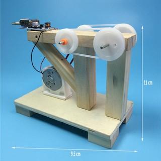 Mô hình máy phát điện bằng gỗ tự lắp ráp thủ công khoa học thú vị