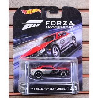 Xe mô hình tỉ lệ 1:64 Hot Wheels bánh cao su Forza Motorsport '12 Camaro ZL1 Concept 4/5 ( màu xám )