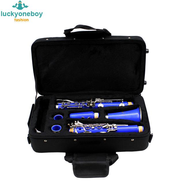 Water-resistant Oxford Cloth Gig Bag Box for Clarinet with Adjustable Single Shoulder Strap Pocket Foam Cotton Padded