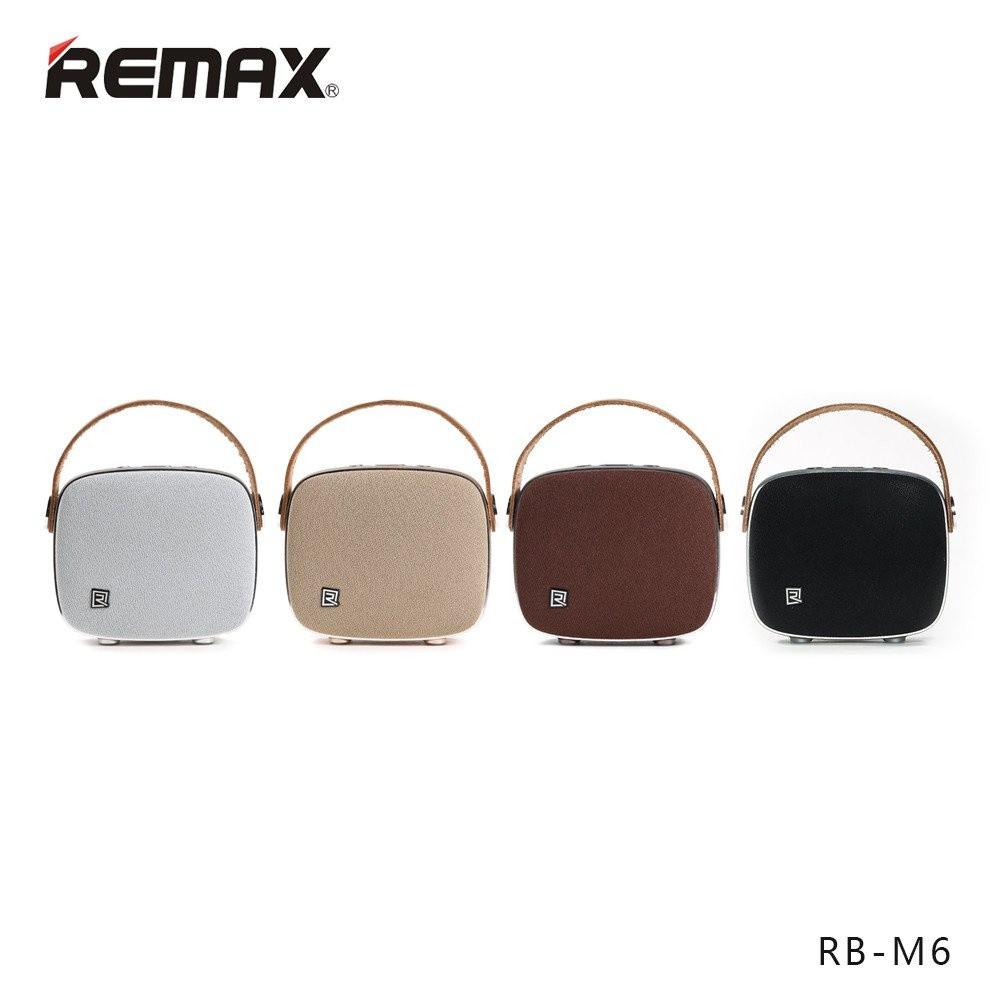 Loa bluetooth thiết kế khung kim loại cao cấp âm thanh nổi HiFi Remax RB - M6