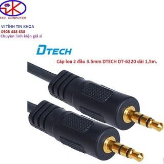 [Mã ELORDER5 giảm 10k đơn 20k] Cáp loa 2 đầu 3.5mm DTECH DT-6220 dài 1,5m.