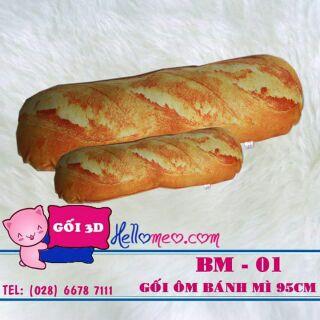 [FREESHIP 99K TOÀN QUỐC] Gối ôm 3d bánh mỳ 55cm