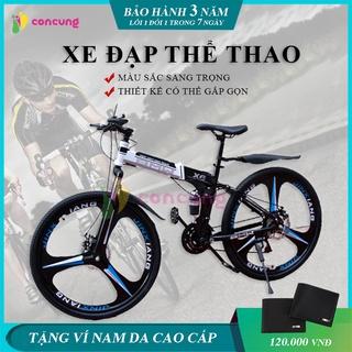 Xe đạp thể thao, xe đạp địa hình gấp gọn phù hợp với mọi lứa tuổi cho cả nam và nữ màu sắc sang trọng thumbnail