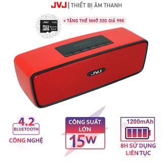 Loa bluetooth JVJ S20 Loa di động - Nghe nhạc kết nối điện thoại, máy tính, Smart Tivi, Jack 3.5mm Bảo hành 12T