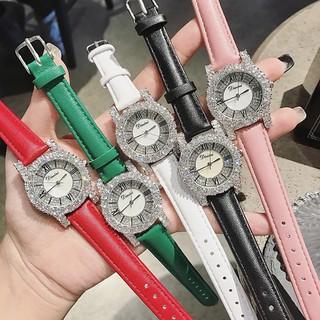 [SIÊU HOT] Đồng hồ nữ DIMINI chính hãng dây da mềm mặt nạm kim cương thumbnail