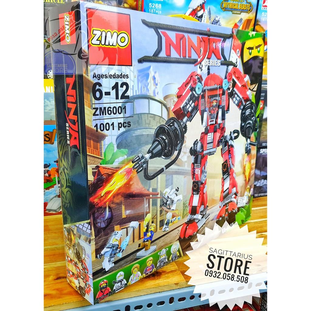 Lego Lắp Ráp Robot Chiến Binh Samurai Zimo 6001 ( 1001 Mảnh )