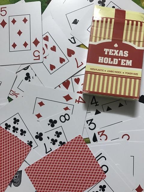 Combo 2 bộ bài nhựa texas holdem giá rẻ