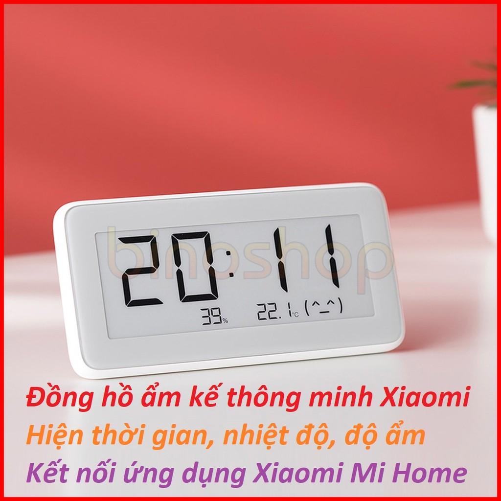 Đồng hồ ẩm kế thông minh Xiaomi đo thời gian, nhiệt độ, độ ẩm
