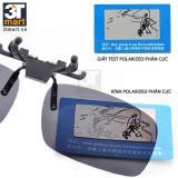Tròng kính mát kẹp phân cực cho người cận 3Tmart RE02BG (bạc tráng gương)kính mắt mắt kính